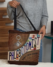 Phlebotomist Leather Pattern Print All-over Tote aos-all-over-tote-lifestyle-front-10