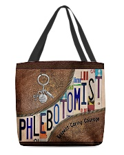 Phlebotomist Leather Pattern Print All-over Tote back