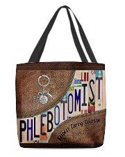 Phlebotomist Leather Pattern Print All-over Tote front