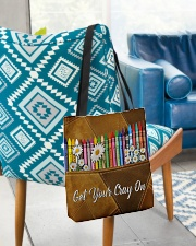 Get Your Cray On Leather Pattern Print  All-over Tote aos-all-over-tote-lifestyle-front-01