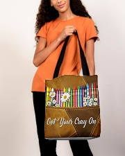 Get Your Cray On Leather Pattern Print  All-over Tote aos-all-over-tote-lifestyle-front-06