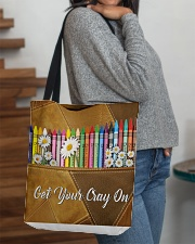 Get Your Cray On Leather Pattern Print  All-over Tote aos-all-over-tote-lifestyle-front-09