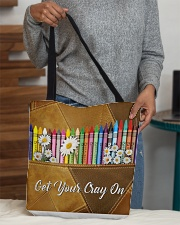 Get Your Cray On Leather Pattern Print  All-over Tote aos-all-over-tote-lifestyle-front-10