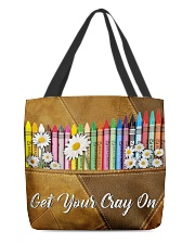 Get Your Cray On Leather Pattern Print  All-over Tote back