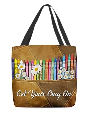 Get Your Cray On Leather Pattern Print  All-over Tote front