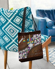 Mom Hugs Leather Pattern Print All-over Tote aos-all-over-tote-lifestyle-front-01