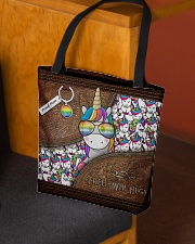 Mom Hugs Leather Pattern Print All-over Tote aos-all-over-tote-lifestyle-front-02
