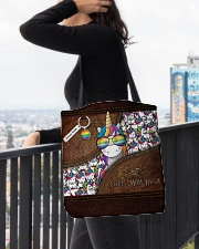 Mom Hugs Leather Pattern Print All-over Tote aos-all-over-tote-lifestyle-front-05