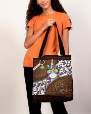 Mom Hugs Leather Pattern Print All-over Tote aos-all-over-tote-lifestyle-front-06