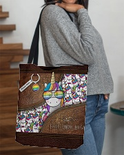 Mom Hugs Leather Pattern Print All-over Tote aos-all-over-tote-lifestyle-front-09