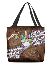 Mom Hugs Leather Pattern Print All-over Tote back