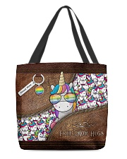 Mom Hugs Leather Pattern Print All-over Tote front