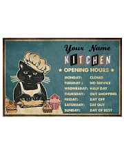 Kitchen Opening Hours 17x11 Poster front