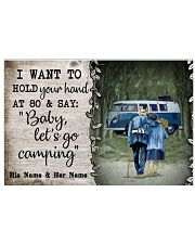 Personalized Camping Van Baby Let'S Go 17x11 Poster front