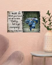 Personalized Camping Van Baby Let'S Go 17x11 Poster poster-landscape-17x11-lifestyle-22