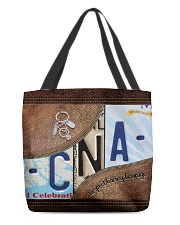 Cna Respect Caring Courage All-over Tote front