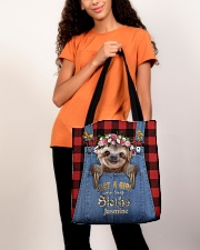 Personalized Sloth Just A Girl All-over Tote aos-all-over-tote-lifestyle-front-06