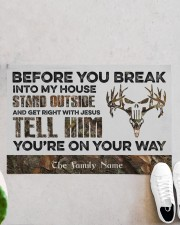 """Before You Break Into My House Stand Outside  Doormat 22.5"""" x 15""""  aos-doormat-22-5x15-lifestyle-front-06"""