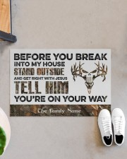 """Before You Break Into My House Stand Outside  Doormat 22.5"""" x 15""""  aos-doormat-22-5x15-lifestyle-front-07"""