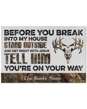 """Before You Break Into My House Stand Outside  Doormat 22.5"""" x 15""""  front"""