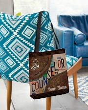 Custom Name Counselor Respect Caring Courage All-over Tote aos-all-over-tote-lifestyle-front-01