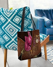 Fighter Leather Pattern Print All-over Tote aos-all-over-tote-lifestyle-front-01