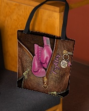 Fighter Leather Pattern Print All-over Tote aos-all-over-tote-lifestyle-front-02
