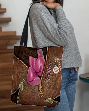 Fighter Leather Pattern Print All-over Tote aos-all-over-tote-lifestyle-front-09