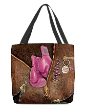 Fighter Leather Pattern Print All-over Tote back