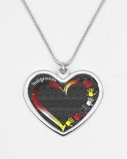 Indigenous Metallic Heart Metallic Heart Necklace aos-necklace-heart-metallic-lifestyle-08