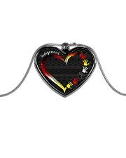 Indigenous Metallic Heart Metallic Heart Necklace front