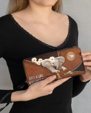 Elephant Mom Daisy  Women's Clutch Purse Horizontal aos-women-clutch-purse-lifestyle-front-13