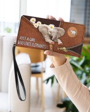 Elephant Mom Daisy  Women's Clutch Purse Horizontal aos-women-clutch-purse-lifestyle-front-21