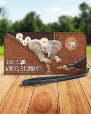Elephant Mom Daisy  Women's Clutch Purse Horizontal aos-women-clutch-purse-lifestyle-front-37