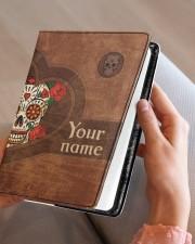 Skull  Medium - Leather Notebook aos-medium-leather-notebook-lifestyle-front-05