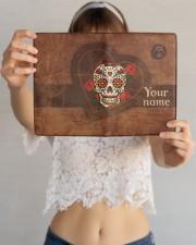 Skull  Medium - Leather Notebook aos-medium-leather-notebook-lifestyle-front-12