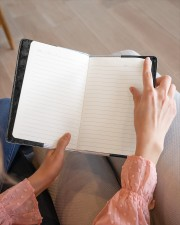 Skull  Medium - Leather Notebook aos-medium-leather-notebook-lifestyle-front-14