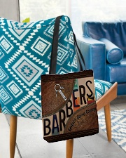 Barbers leather pattern print All-over Tote aos-all-over-tote-lifestyle-front-01