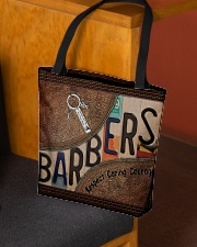 Barbers leather pattern print All-over Tote aos-all-over-tote-lifestyle-front-02