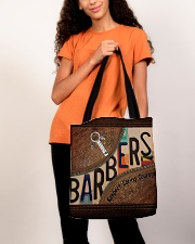 Barbers leather pattern print All-over Tote aos-all-over-tote-lifestyle-front-06
