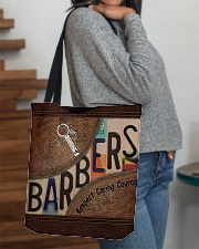 Barbers leather pattern print All-over Tote aos-all-over-tote-lifestyle-front-09
