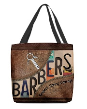 Barbers leather pattern print All-over Tote back