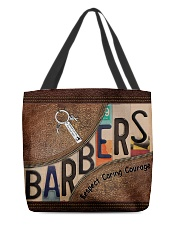 Barbers leather pattern print All-over Tote front