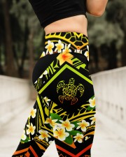 Hi Hawaii Leather Pattern Print High Waist Leggings aos-high-waist-leggings-lifestyle-11