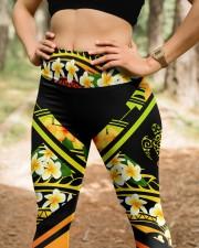 Hi Hawaii Leather Pattern Print High Waist Leggings aos-high-waist-leggings-lifestyle-22