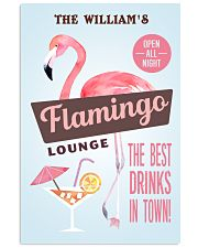 Personalized Flamingo Lounge Best Drinks 11x17 Poster front