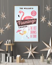 Personalized Flamingo Lounge Best Drinks 11x17 Poster lifestyle-holiday-poster-1