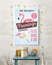 Personalized Flamingo Lounge Best Drinks 11x17 Poster lifestyle-holiday-poster-3