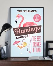 Personalized Flamingo Lounge Best Drinks 11x17 Poster lifestyle-poster-2