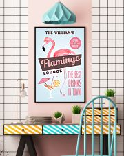 Personalized Flamingo Lounge Best Drinks 11x17 Poster lifestyle-poster-6